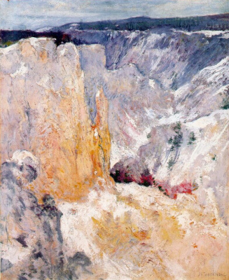 John Henry Twachtman. Canyon in Yellowstone