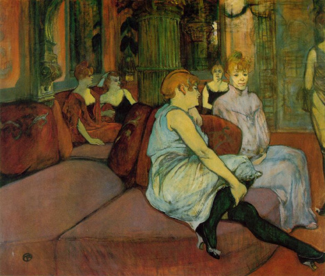 In the Salon of the Rue des Moulins