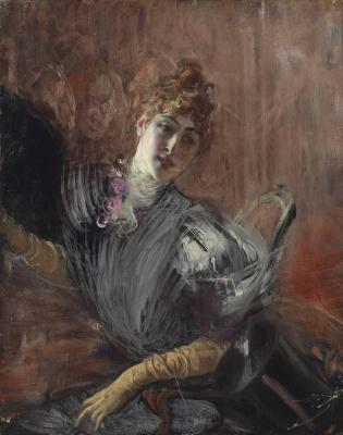 Giovanni Boldini. Female portrait