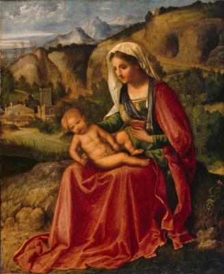 Giorgione. Madonna and Child in a Landscape
