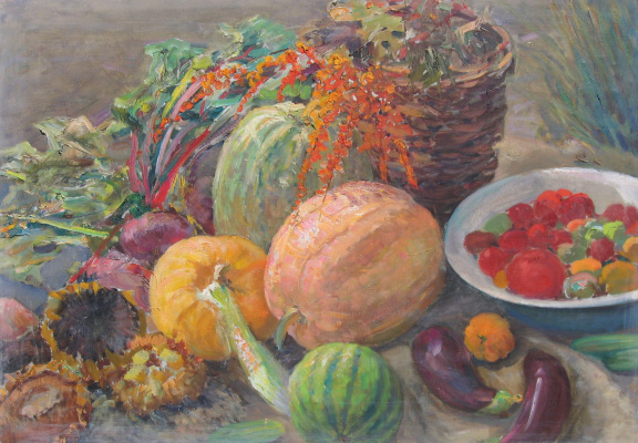 Vasily Fadeevich Demin. Still life with vegetables