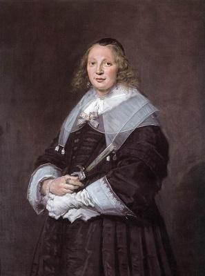 France Hals. Portrait of a standing woman