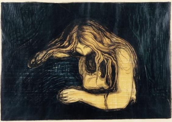 Edvard Munch. Vampire II