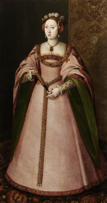 Masterpieces of unknown artists. Portuguese Maria, first wife of king Philip II of Spain
