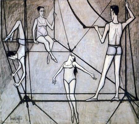 Bernard Buffet. Le cirque : Acrobates
