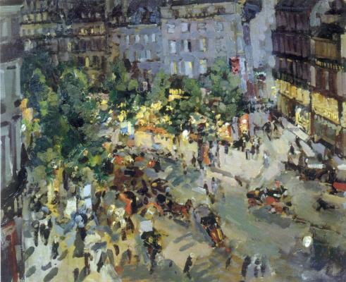 Konstantin Korovin. Paris. Capuchin Boulevard