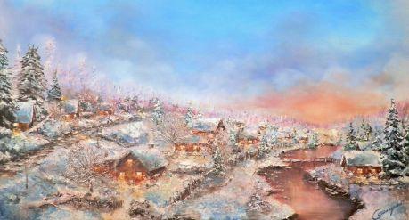 Сергей Пискунов. Рождество в деревне
