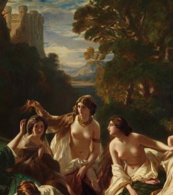 Franz Xaver Winterhalter. Florinda. Fragment II