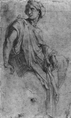 Raphael Santi. Sybil. Sketches for the mosaics of the Capella Chigi