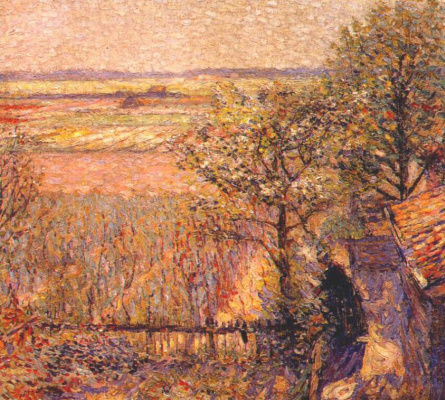 Appman Artist. Fields surrounded by trees