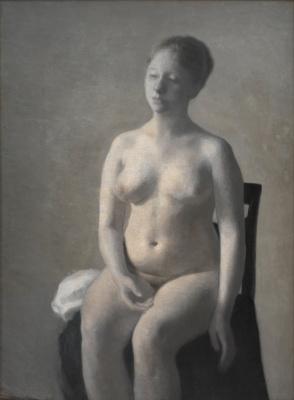 Vilhelm Hammershøi. Seated nude