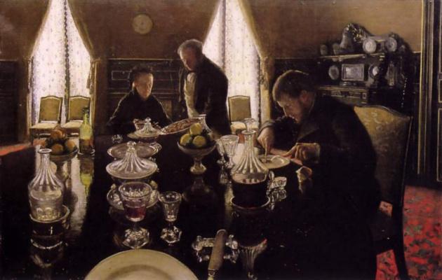 Gustave Caillebotte. Breakfast