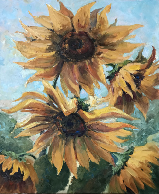 Natalia Shlyakhova. Sunflowers