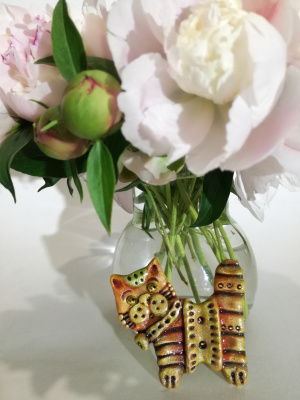 Ирина Александровна Лычагина. BROOCH CAT