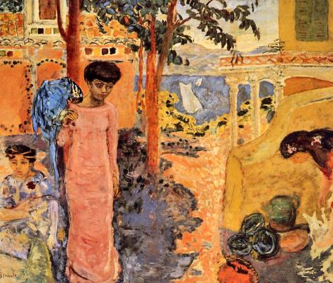 Pierre Bonnard. Woman with a parrot