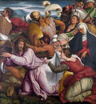 Jacopo da Ponte Bassano. The way to Calvary