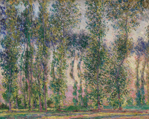 Claude Monet. Poplars at Giverny