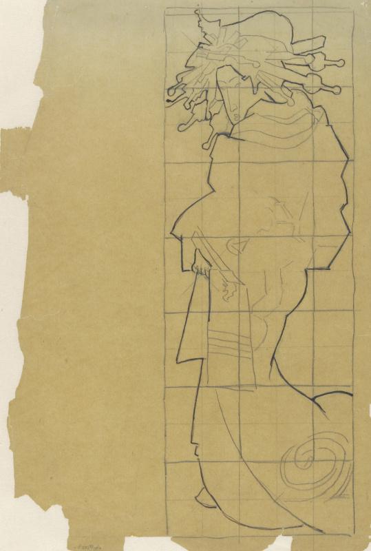 Винсент Ван Гог. Калька с обложки журнала Paris Illustré. Le Japon за май 1886 года