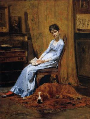Томас Икинс. Жена художника и ее собака