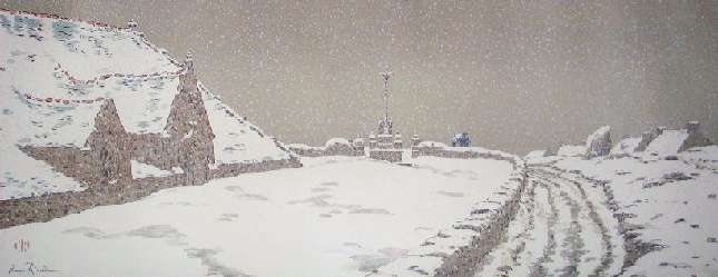 Анри (Henri) Ривьер (Rivière). Снегопад (La Neige)