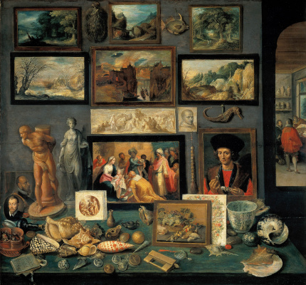 Frans Franken the Younger. Chamber of Art and Curiosities