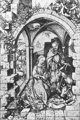 Martin Schongauer. The adoration of the Magi