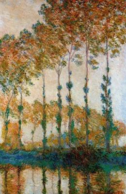 Claude Monet. Poplars on the banks Apte