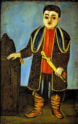 Нико Пиросмани (Пиросманашвили). Мальчик в грузинском национальном костюме