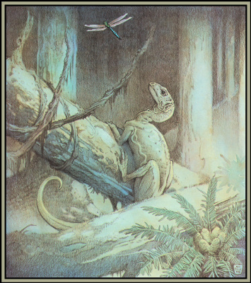 Уильям Стаут. Ужин динозавра