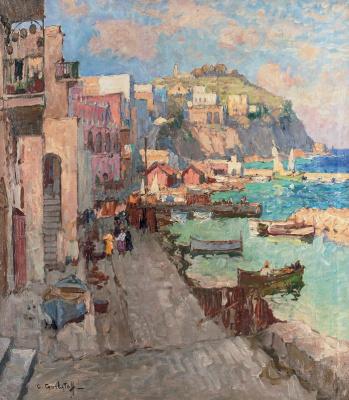 Konstantin Ivanovich Gorbatov. Fishing town on Capri