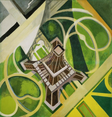 Robert Delaunay. Eiffel tower and field of Mars gardens