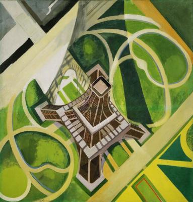 Robert Delaunay. Eiffel tower and field of Mars gardens
