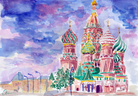 Ekaterina Viktorovna Osipovich. Cathedral of St. Vasily the Blessed