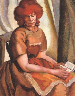Tamara Lempicka. Woman with book