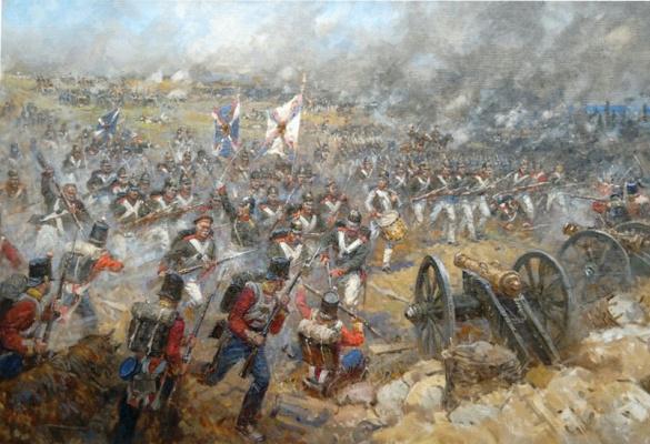 Aleksandr Chagadaev. The battle of the Alma River. Crimean War