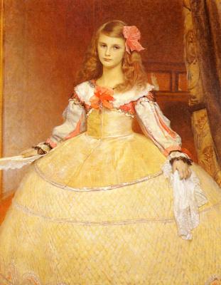 Франц фон Мач. Портрет дочери художника, инфанты