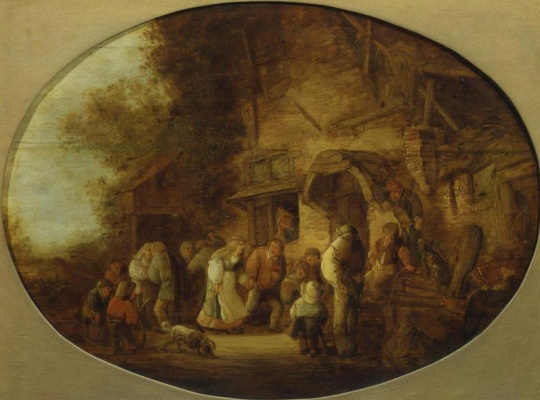 Isaac Jans van Ostade. Peasant wedding