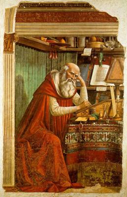 Доменико Гирландайо. Святой Иероним в своем исследовании