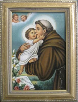 Ядвига Сенько. Св.Антоний с Иисусом -икона католическая (холст,масло)