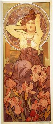 Alphonse Mucha. Amethyst. A series of gems