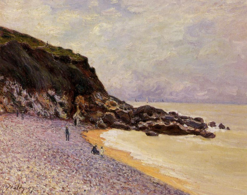 Alfred Sisley. Lady's Cove before the storm