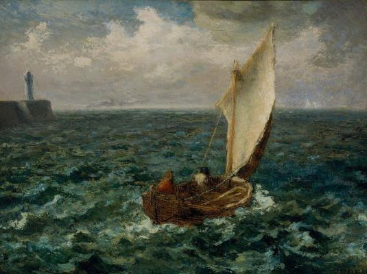Jean-François Millet. Fishing boat