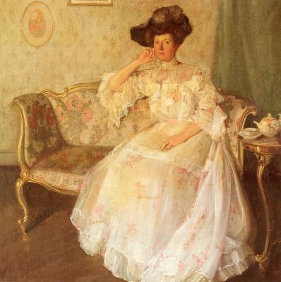 Эдуард Миллер. Леди в белом платье