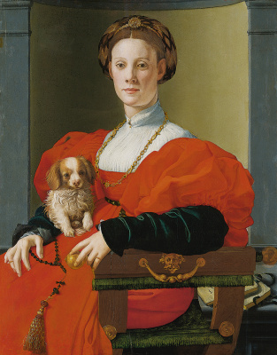 Agnolo Bronzino. Portrait of a lady in red