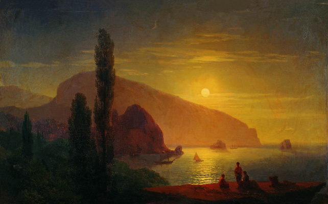 Ivan Aivazovsky. Night in the Crimea. View of the Ayu-Dag