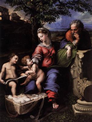 Рафаэль Санти. Святое семейство под дубом (Мадонна под дубом)