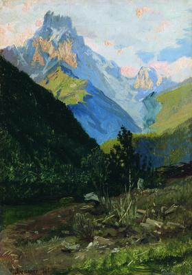 Николай Александрович Ярошенко. Гора Ужба в Сванетии. 1882