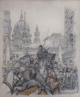 Антон Пик. На оживленной городской улице