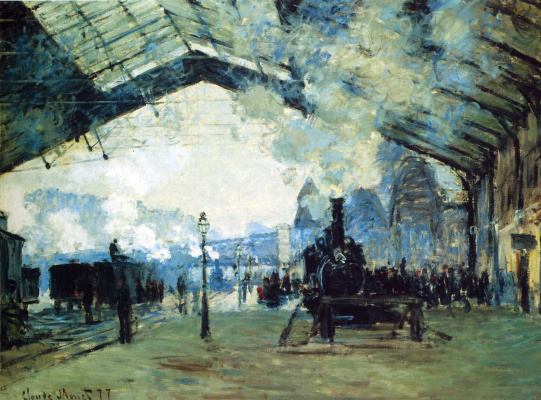 Claude Monet. The station Saint Lazare the train from Normandy