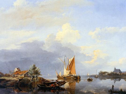Голландский речной пейзаж